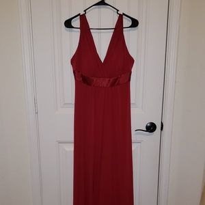 David's Bridal Red Bride's Maid Dress